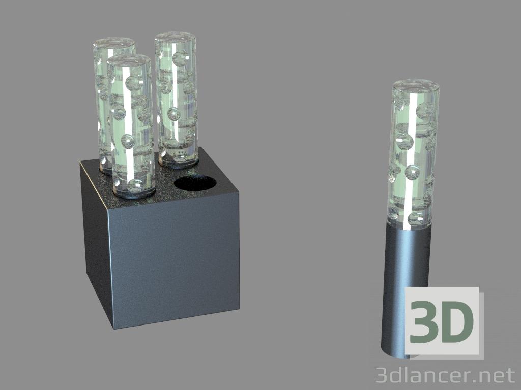 3d моделювання Декоративний світильник Jardin de Cristal lamp 4L Jallum кругла фігура і світлодіодний модель завантажити безкоштовно