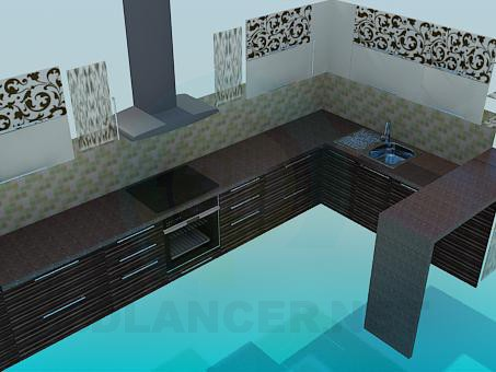 descarga gratuita de 3D modelado modelo Muebles de cocina