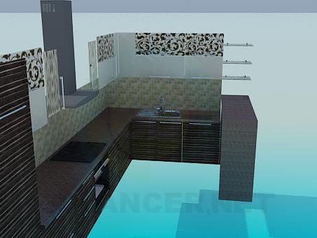 3d модель Кухонная мебель – превью