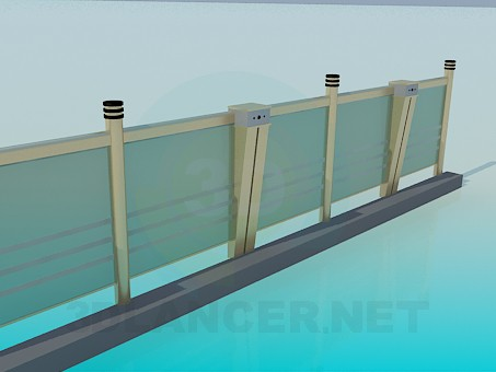 3d model Glass railings - preview