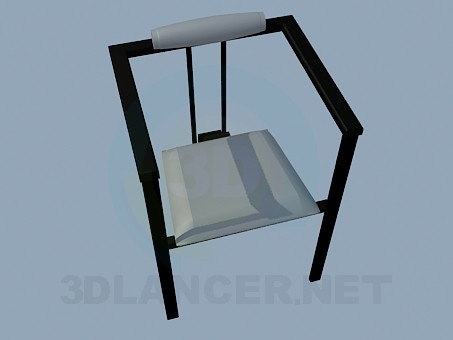 3d model The three-legged stool in high-tech style - preview