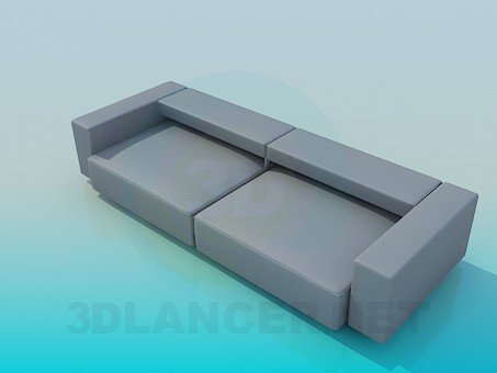3d model Sofa with low back - preview