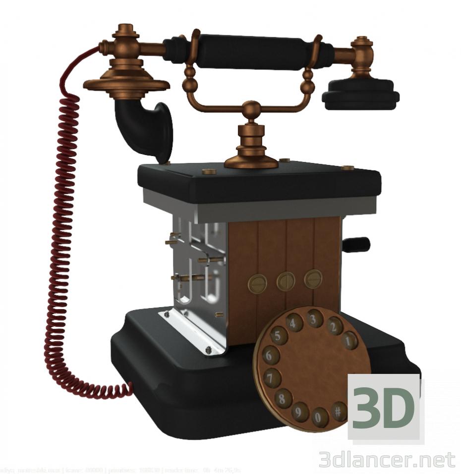 3 डी मॉडल रेट्रो फोन - पूर्वावलोकन