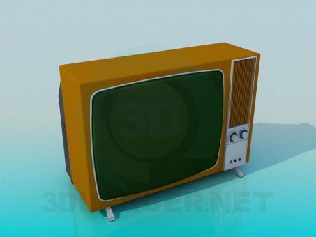 3d modeling Retro TV model free download
