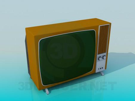 3d модель Старый Телевизор – превью
