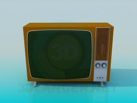3d model Retro TV - preview