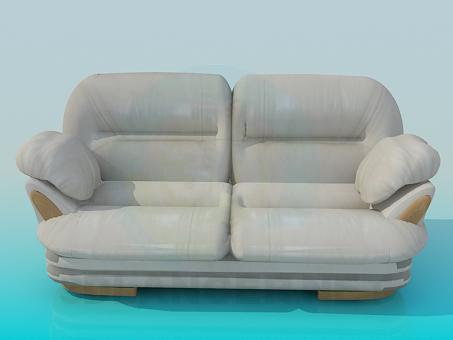 3d modeling Gray sofa model free download