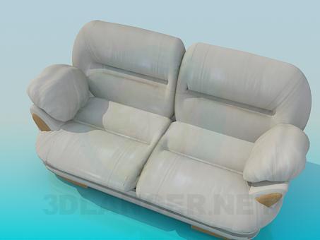 3d модель Серый диван – превью