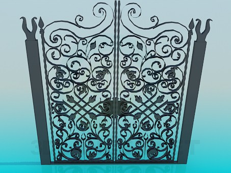 3d modeling Forged Gates model free download