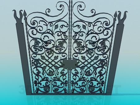 3d модель Кованные ворота – превью