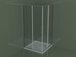 Shower enclosure ZA + ZA 100 with sliding door for corner shower trays