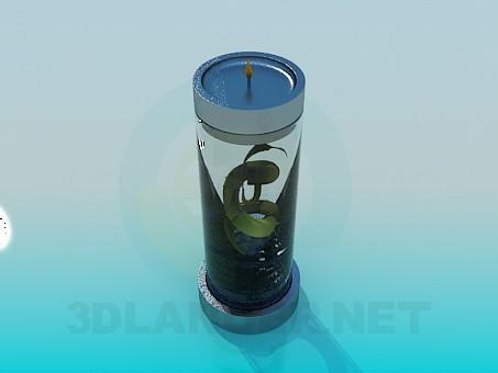 3d модель Подсвечник с растением внутри – превью