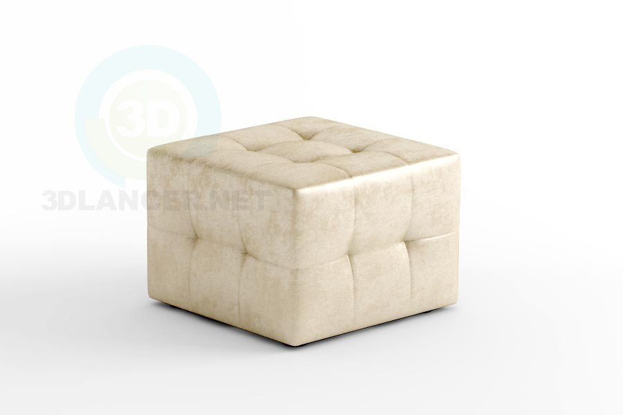 3d model Pouffe Liege - preview