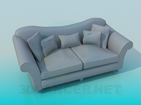 3d modeling Sofa model free download