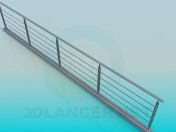 Railing on the pedestrian bridge