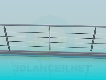 3d model Railing on the pedestrian bridge - preview