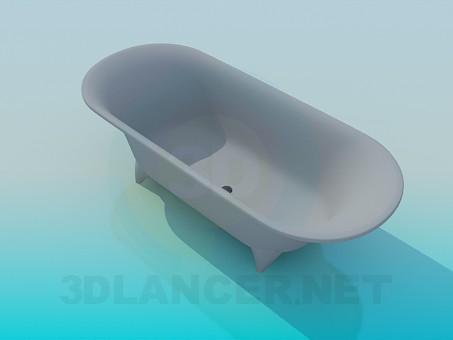 Scarica di Vasca da bagno modello gratuito di modellazione 3D