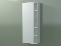 Wall cabinet with 1 left door (8CUCDСS01, Glacier White C01, L 48, P 24, H 120 cm)