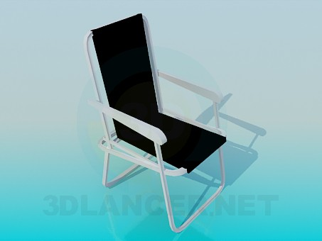 3d modeling Beach chair model free download