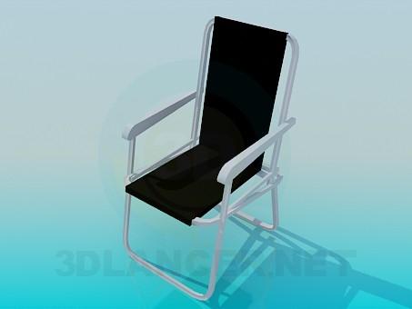 modelo 3D Silla de playa - escuchar
