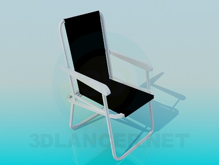 3d model Beach chair - preview