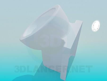 3d модель Писсуар напольный – превью