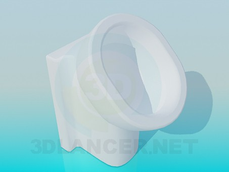 3d model Floor standing urinal - preview