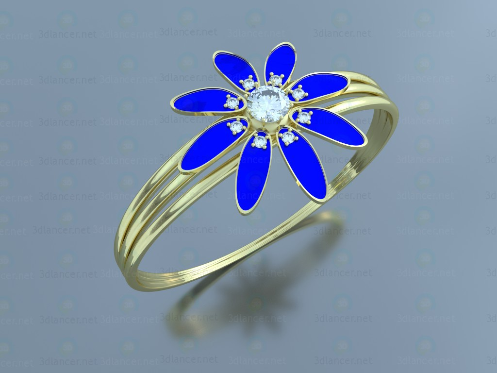 "3d model Ring ""Flower"" - preview"