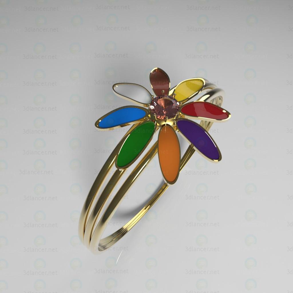 """3d model Ring """"Flower"""" - preview"""