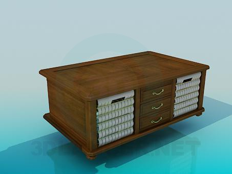 3d model Large wooden tables - preview