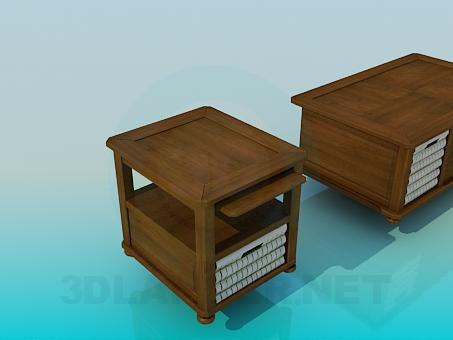 modelo 3D Grandes mesas de madera - escuchar