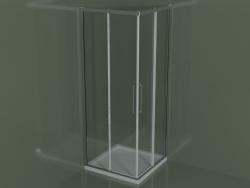 Cabina doccia ZA + ZA 80 con porta scorrevole per piatti doccia angolari