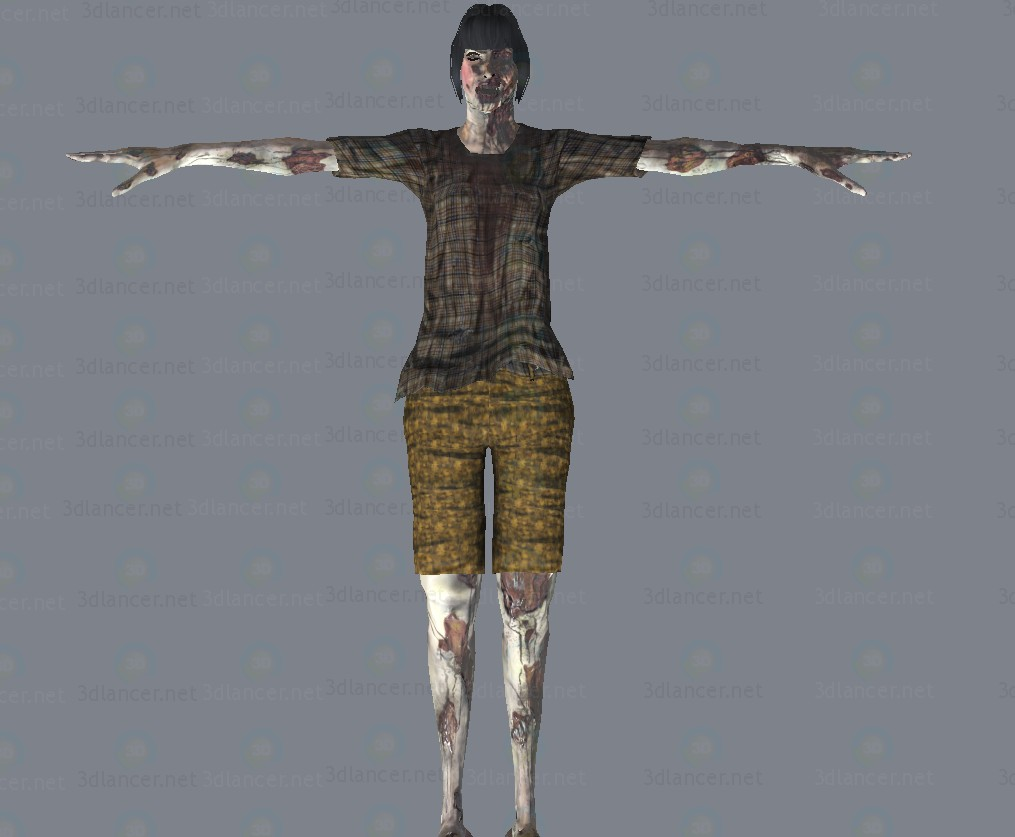 modello 3D Zombi - anteprima
