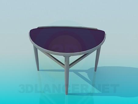3d моделювання Напівкруглий приставний столик модель завантажити безкоштовно