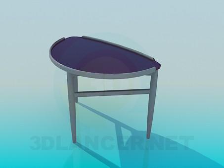 3d модель Полукруглый приставной столик – превью