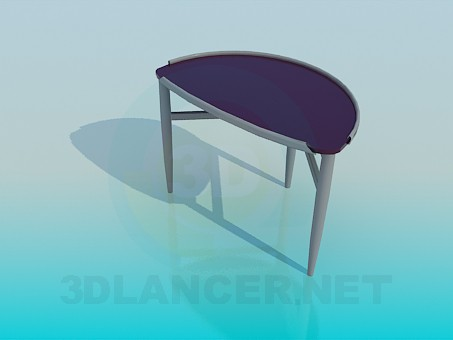 3d model Semi-circular Side table - preview
