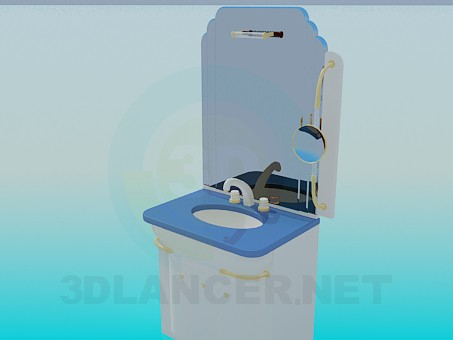 3d model washstand - preview