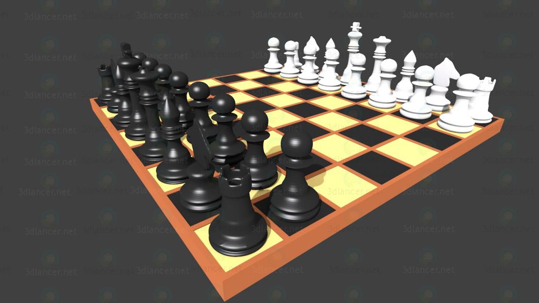 3d модель Шахматы – превью