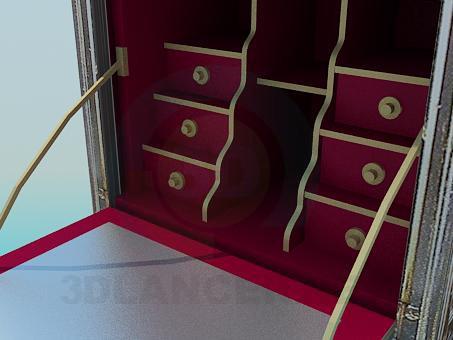 3d модель Старинный сейф – превью