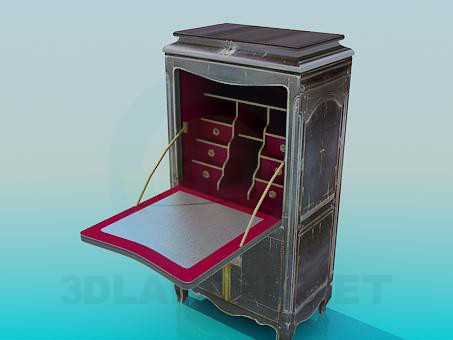 3d model Antique safe - preview