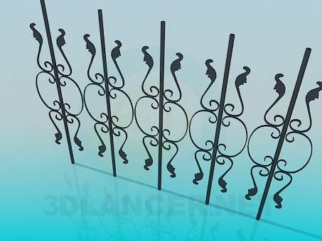 3d model Forged pattern - preview
