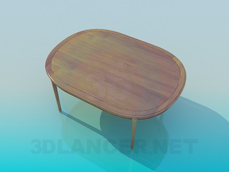 3d model Table without a catch - preview