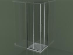 Cabina doccia ZA + ZA 70 con porta scorrevole per piatti doccia angolari