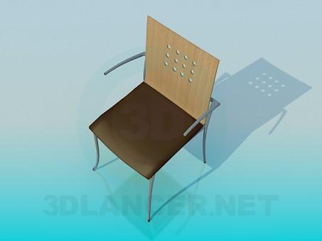 3d модель Стул со спинкой – превью