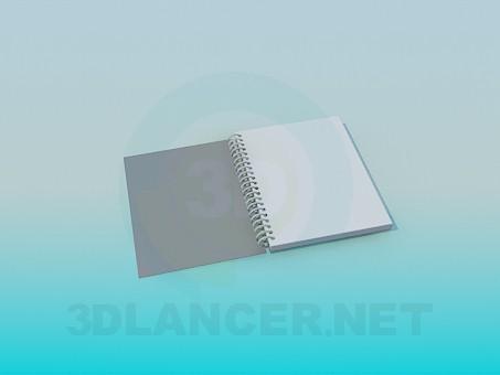 3d модель Блокнот – превью