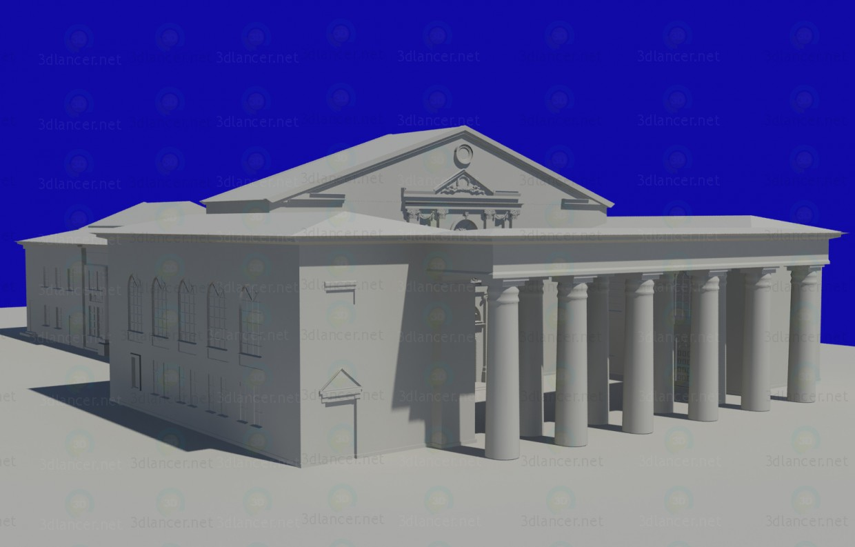 Modelo 3d Palácio da cultura - preview