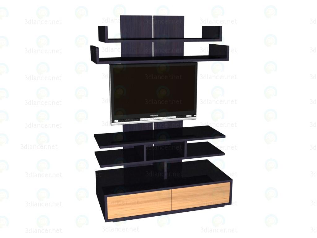 3d модель Панель ТВ с телевизором – превью