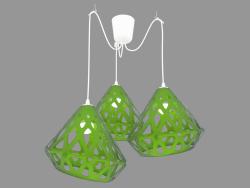 Lampe à suspension (verte)