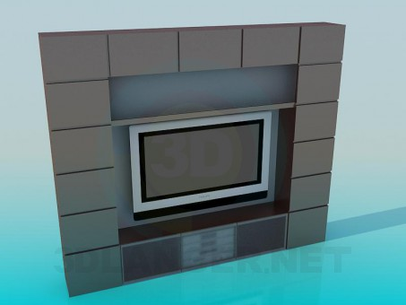 descarga gratuita de 3D modelado modelo TV y el receptor