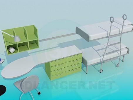 modelo 3D Muebles para habitaciones infantiles - escuchar